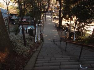 階段の途中から