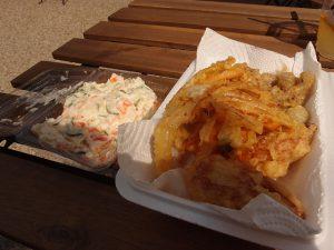 野菜天とポテトサラダ