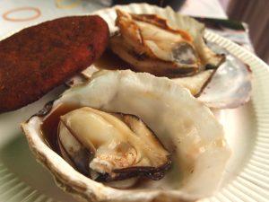 ホタテと牡蠣の浜焼き