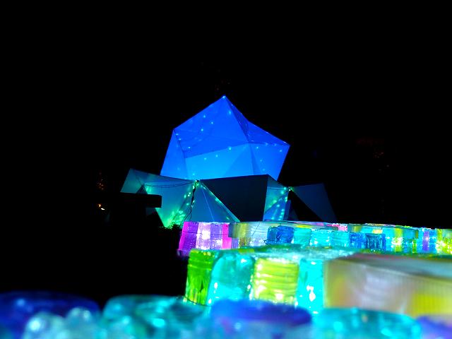鍛冶町広場のライトアップ