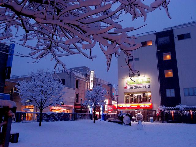 小江戸 川越の雪景色。そして翌日の風景と市民による雪作品たち