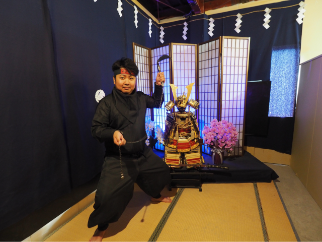 "Authentic Ninja experience at Ninja house ""Kurodaya"" in Koedo, Kawagoe! Children are welcome to enjoy as well"